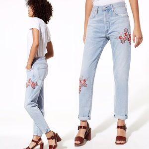 CITIZENS OF HUMANITY Liya Embroidered Floral Jeans